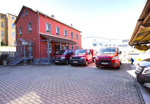 Gebäude der Ofenbauergenossenschaft in Gera Untermhaus